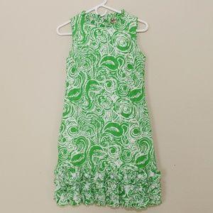 Lilly Pulitzer Jubilee Sleeveless Dress Green Sz 4